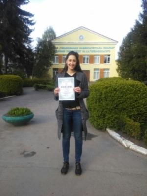 Студентку БДМУ нагороджено дипломом за доповідь на Міжнародному медичному конгресі