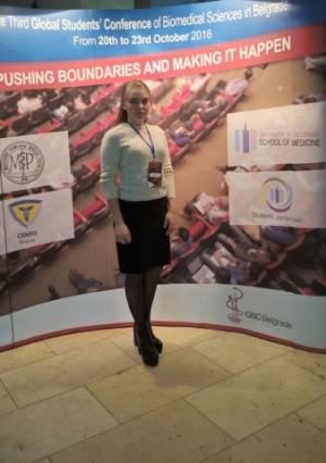 Студентка БДМУ взяла участь у міжнародній конференції в Сербії