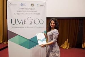 Студентка БДМУ здобула перемогу на Міжнародній конференції в Ужгороді
