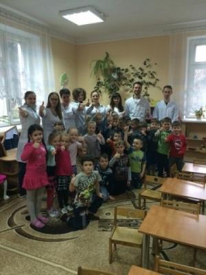 До Дня імунітету студенти провели акцію для дошкільнят