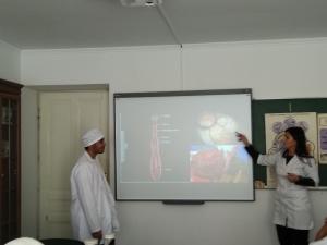 Використання інтерактивної дошки студентами на кафедрі медичної біології та генетики