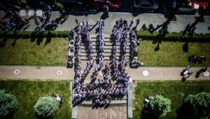 Студенти БДМУ створили живий тризуб