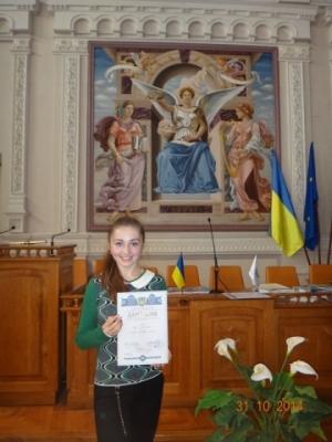 Студентка БДМУ отримала стипендію Президента України