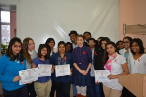 Студенти провели акцію «Say STOP to HIV/AIDS-2015!»