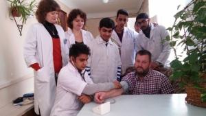 Студенти провели акцію з вимірювання артеріального тиску