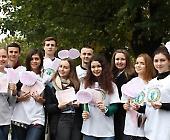 Студенти провели акцію до Дня боротьби з раком молочної залози