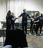 Playback театр «Луна» виступив для викладачів і студентів БДМУ